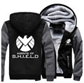 USA size Men Women Shield S.H.I.E.L.D. Jacket Sweatshirts Thicken Hoodie Coat Clothing Casual