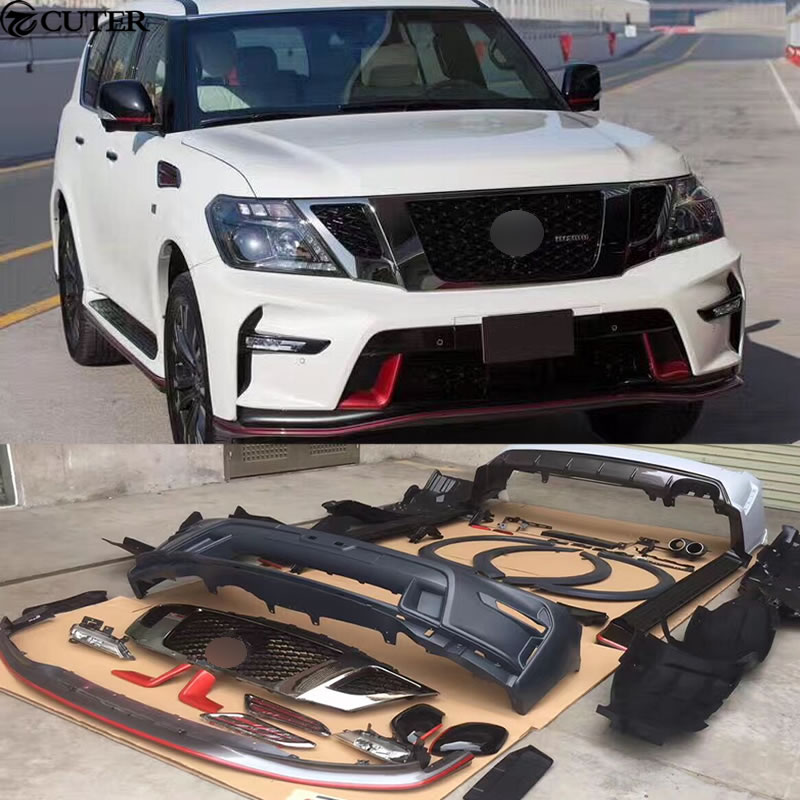Car Body Kits >> Us 2399 99 Y62 Car Body Kit Abs Unpainted Front Rear Bumper Side Skirts For Nissan Patrol Y62 Nismo Sport Body Kit 12 17 In Body Kits From