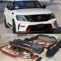 Y62 Car body kit ABS Unpainted front Rear bumper Side skirts for Nissan Patrol Y62 Nismo Sport body kit 12 17