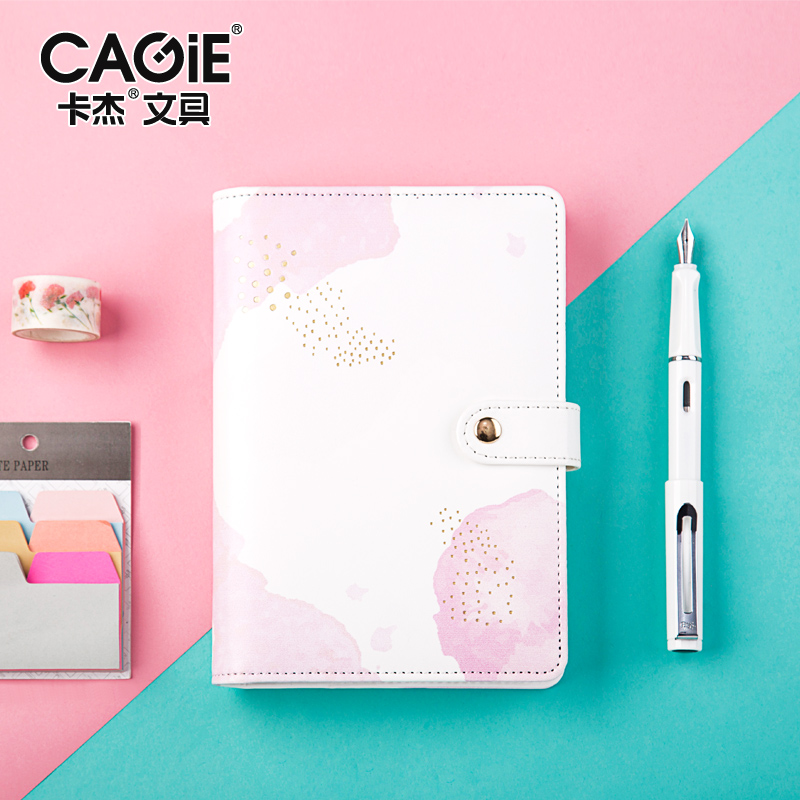 CAGIE Creative Trends A6 Spiral Notebook Kawaii Planner Organizer Personal Diary Journals Pu Leather School Agenda Filofax KIKKI creative hollow leather spiral notebook cute school agenda organizer binder diary planner travel journal filofax stationery a5a6
