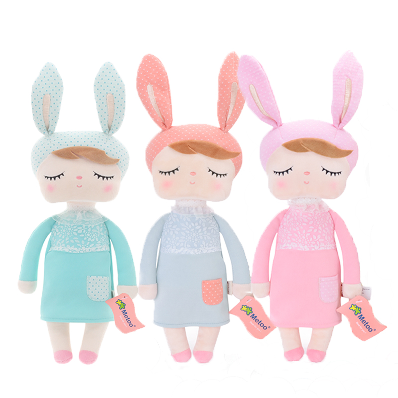 3/pcs Metoo Newest Plush Angela dolls with Box Dreaming Girl Stuffed Rabbit Candy colors  Kids Toys For Girls Birthday Gift 33CM3/pcs Metoo Newest Plush Angela dolls with Box Dreaming Girl Stuffed Rabbit Candy colors  Kids Toys For Girls Birthday Gift 33CM
