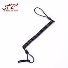 Wolfslaves Tactical Retractable Spring Elastic Rope Security Gear Tool For Airsoft