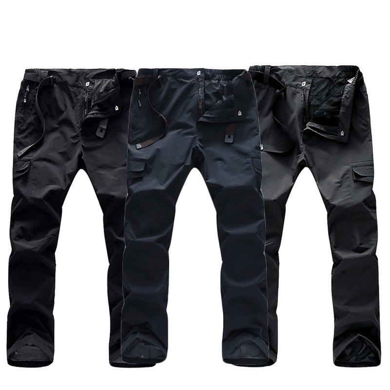 Man Summer Waterproof Fishing New Quick dry Trousers Trekking Hiking pants Men outdoor Plus size camping Travel Belt climbing pants women quick dry breathable summer spring outdoor sport pants hiking camping fishing trousers china shop online
