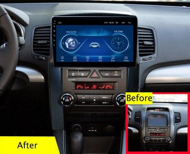 سوبر سليم اللمس شاشة الروبوت 8.1 راديو GPS والملاحة لكيا سورينتو 2009-2012 رئيس وحدة أقراص ستيريو الوسائط المتعددة بلوتوث