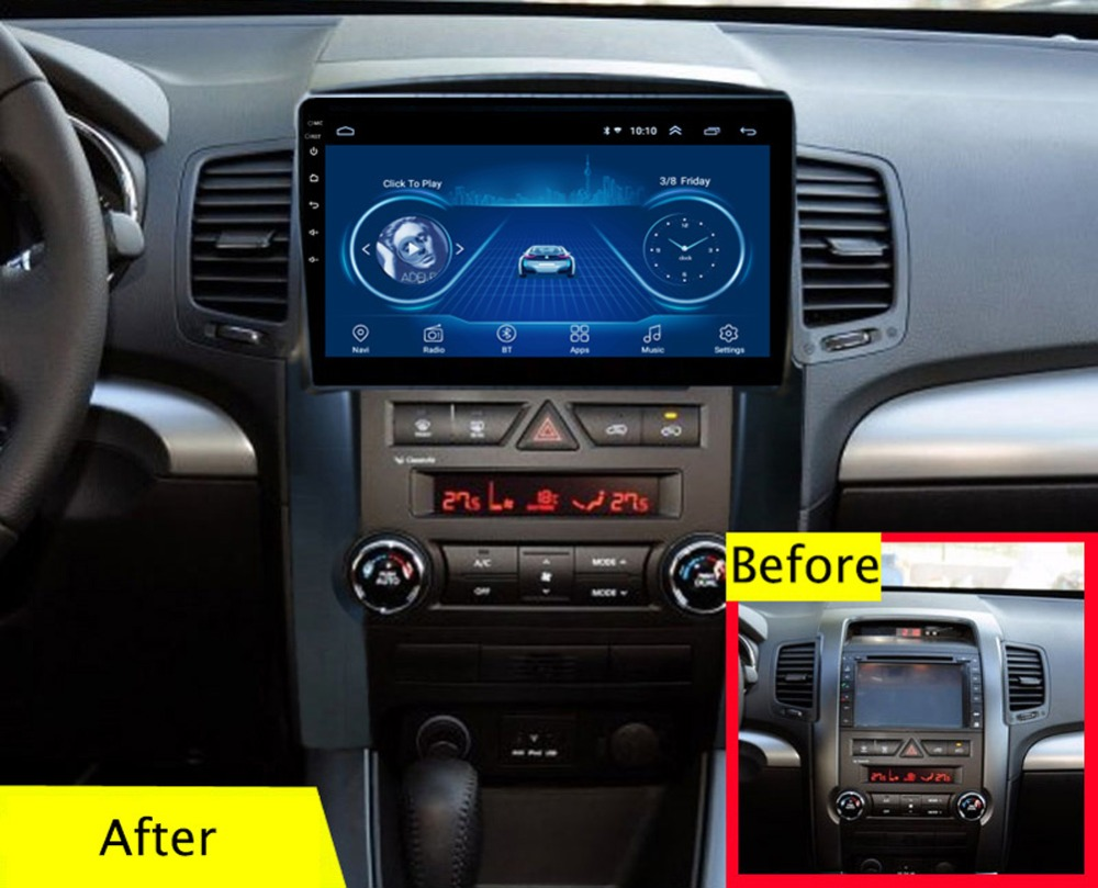 Super Slim Touch Screen Android 8.1 radio GPS Navigation for KIA sorento 2009-2012 HEAD UNIT tablets Stereo Multimedia BluetoothSuper Slim Touch Screen Android 8.1 radio GPS Navigation for KIA sorento 2009-2012 HEAD UNIT tablets Stereo Multimedia Bluetooth