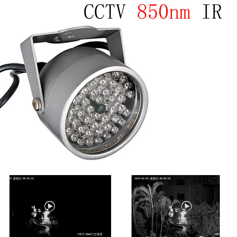 CCTV Fill Light 48 Infrared Array led CCTV 850nm IR illuminator Nightvision Fill Light Waterproof for Surveillance Camera