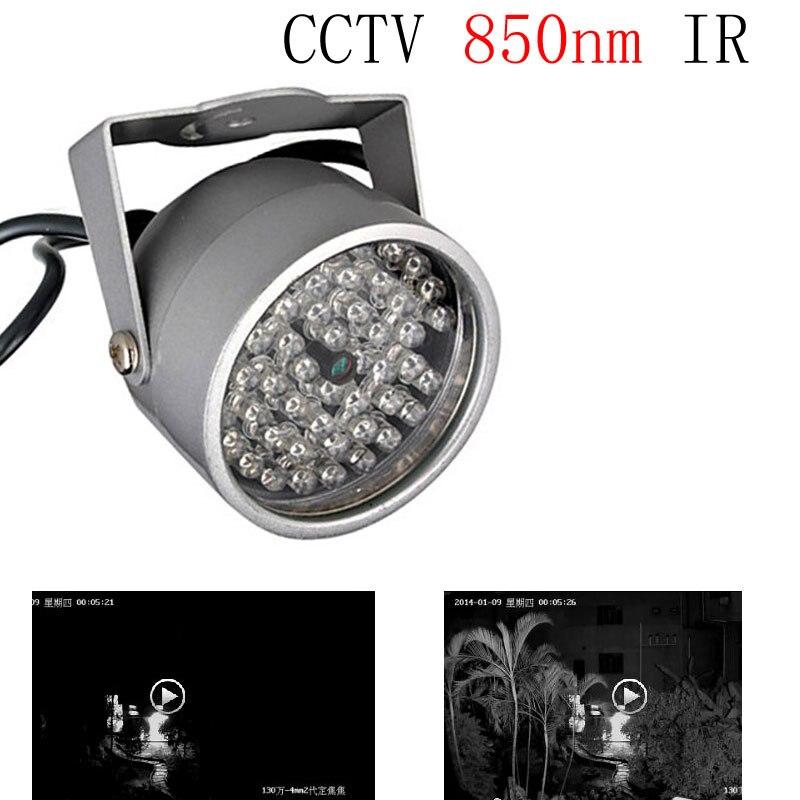 Lumière de remplissage CCTV 48 rangée de LED infrarouge CCTV 850nm IR illuminateur lumière de remplissage de vision nocturne étanche pour caméra de Surveillance
