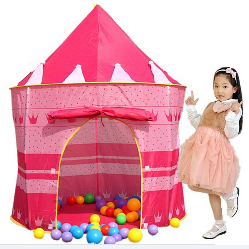 105*135*80cm Children Beach Tent <font><b>Baby</b></font> Toy Play Game House Kids Princess Prince Castle Indoor Outdoor Toys Tents