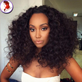8A Grade Human Hair Curly Wig Mongolian Virgin Hair Full Lace Wig Kinky Curly With Baby Hair Frontal Lace Wigs For black Woman