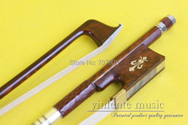 ФОТО 4/4 Violin Bow Baroque Snake Wood Fast Action Straight Top Horse Hair Silver String 0013#