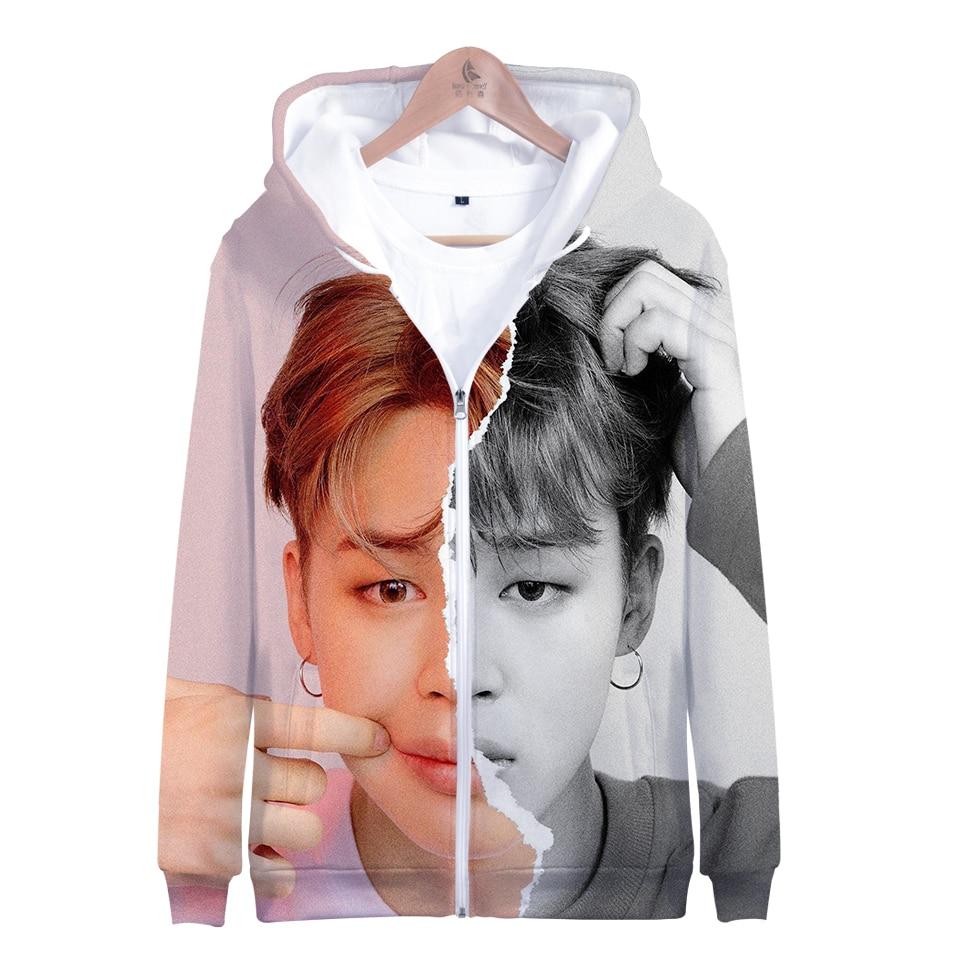 BF LUCKYFRIDAYF 2019 Harajuku Hoodies Sweatshirts 3D Print LOVE YOURSELF ANSWER Long Sleeve Zipper Hip Hop Kawaii  Women Clothes