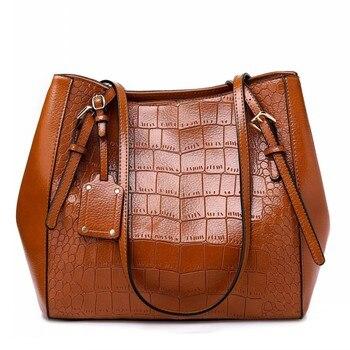 New Fashion Crocodile Pattern Women Cross body Bag Luxury Shoulder Bags lady Vintage Wild Casual Pu Leather Female Messenger Bag