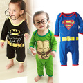 Cotton Superman cartoon muscle modeling baby Romper climbing clothes jumpsuit