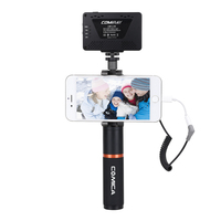 COMICA UHF Беспроводной в реальном времени аудио монитор микрофон с плавной регулировки громкости для iPhone X/iPhone 8/ iPhone 7/iPhone6S