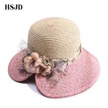 Mujer verano sol sombrero de paja transpirable ligero de moda de color  mezclado plegable anti-UV sol sombrero de playa Casual a8a7d85b3b2