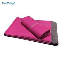 100 pz 250*350mm rosa Poly Bollettini Borse Boutique di Trasporto Couture Buste