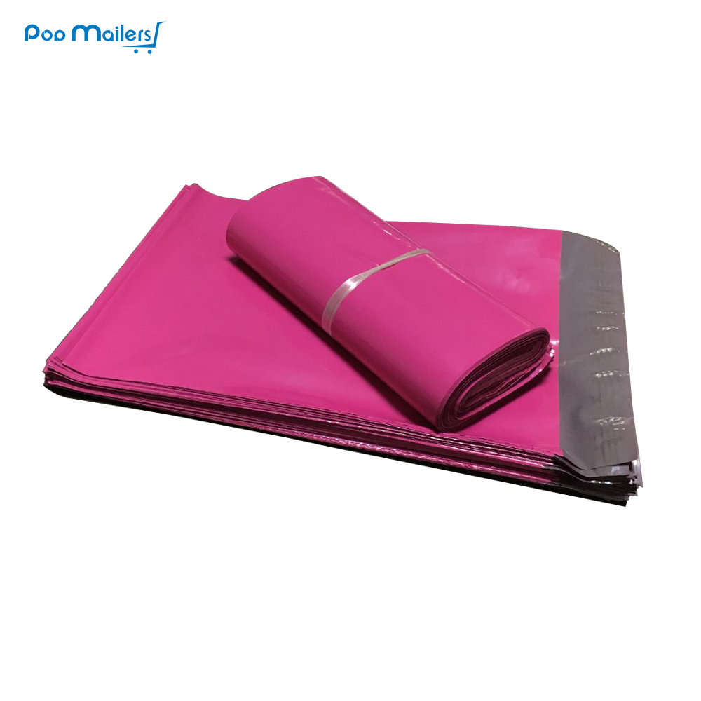 цена на 100pcs 250*350mm pink Poly Mailers Boutique Shipping Bags Couture Envelopes