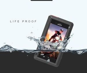Image 5 - עבור Sony Xperia XZ1 Case אהבת מיי עפר הלם הוכחת מים עמיד מתכת שריון כיסוי טלפון עבור Sony Xperia XZ1 קומפקטי