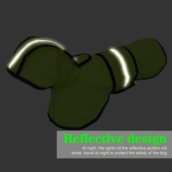 Cane Impermeabile Riflettente Pioggia Giacca Impermeabile Vestiti Dell'animale Domestico di Sicurezza Indumenti Impermeabili Per Pet Cani di Piccola Taglia Media Puppy Doggy Verde Rosso S-2XL 1