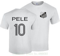 Pele футболка S-Xxxl Бразилия Сантос король футболиста Ретро Brasil Camiseta брендовая Футболка мужская 2019 Мода