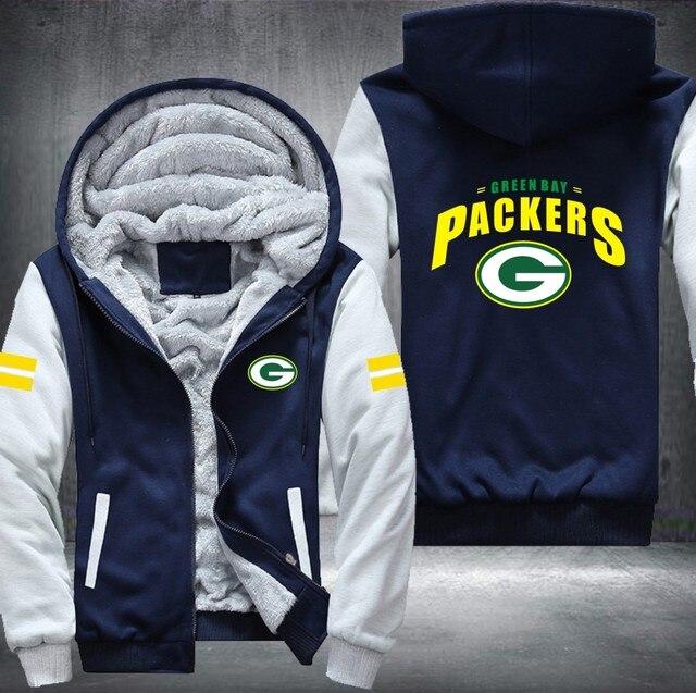 half off a5bb5 67a91 Green Bay Packers Zipper Hoodie Sweatshirt – Unisex