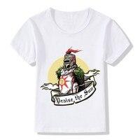 Kinderen Print Dark Souls II 2 Slagaders Lof De Zon Cool T-Shirt Jongens Meisjes Korte Mouw Tops Tees Kids Baby kleding, HKP5030
