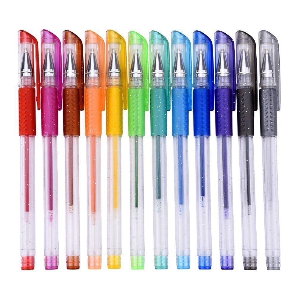 12 шт. ароматизированные гелевые ручки с блестками, Набор для раскрашивания, рисование, наполнителя, канцелярские принадлежности для школы