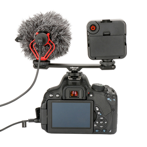 Image 3 - Ulanzi Aluminium Mikrofon Dual Kalt Schuh Montieren Verlängerung Bar Platte Vlogging Zubehör für Stativ Video licht Kamera Filmemacher