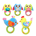 0M+ Mobile Baby Toy Owl Rattle Hand Ring Bell Early Educational Squeaker Doll Hand Development