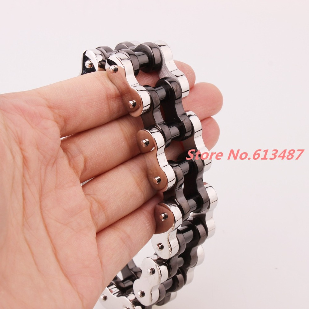Motorcycle bike chain ring 14k black - Aliexpress Com Buy 9 22mm Huge Jewelry 316l Stainless Steel Silver Black Mens Biker Bicycle Motorcycle Chain Males Bracelets Bangles Cool Gift From