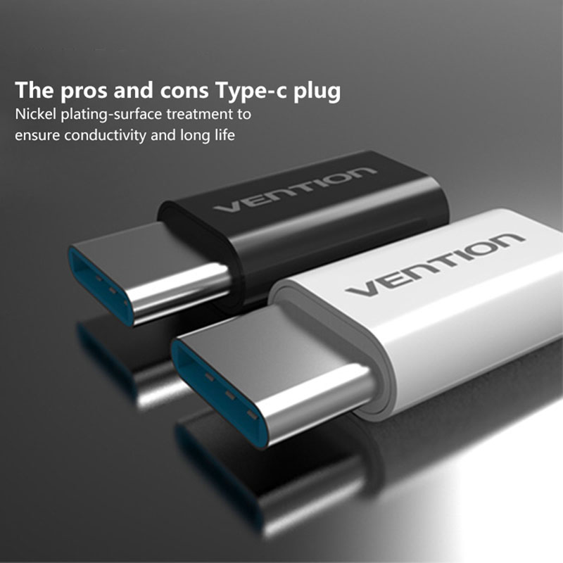 Vention Type-C Male Connector To Micro USB Female USB-C Adapter Converter #R179T# Drop shipping reliable convenient usb 3 0 type a female to female plug adapter extension connector coupler