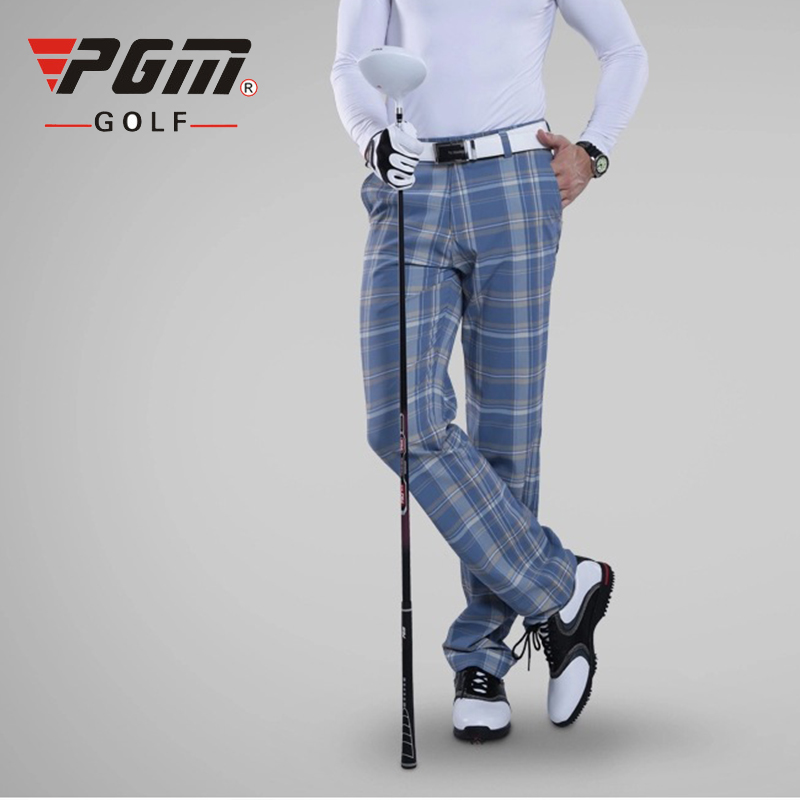 PGM Colorful Golf Pants For Men Plaid Winter Breathable Hight Elasticity Quick Dry Man's Golf Pants Sports Trousers Clothes цена