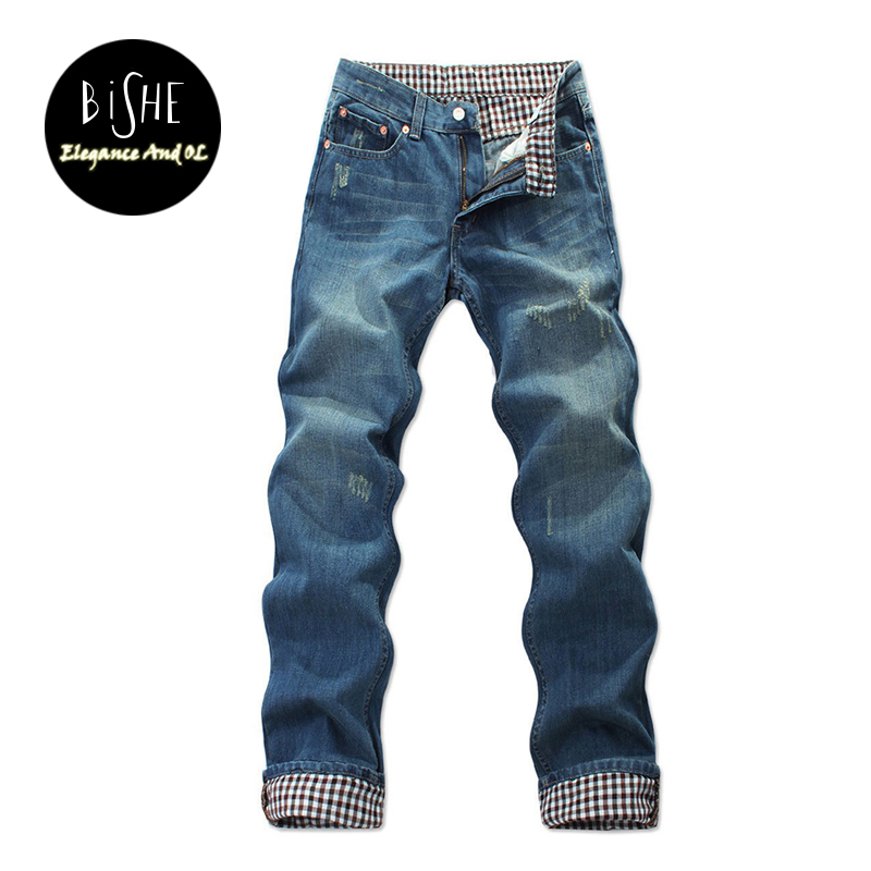 Fashion Full Length Blue Jeans Men Straight Denim Jeans Trousers Plus Size 37 38 40 42 44 Casual Trousers Male Brand Biker Jean envmenst 2017 male floral bottom blue hole ankle length jeans men s jeans casual zipper straight denim trousers size 28 40