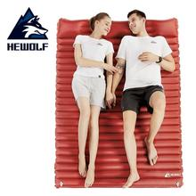 HEWOLF Press Type Outdoor Inflatable Mattress 2 Person Air Mat Cushion Moistureproof Camping Mat With Pillow Sleeping Pad Airbed naturehike outdoor press inflated cushion sleeping bag mat fast filling air moistureproof camping mat with pillow sleeping pad
