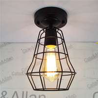 New Vintage Retro Edison Ceiling Light Bulb Iron Guard Wire Cage Ceiling Hanging Light Fitting Bar
