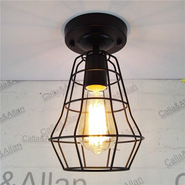 New Vintage Retro Edison ceiling Light Bulb Iron Guard Wire Cage ...