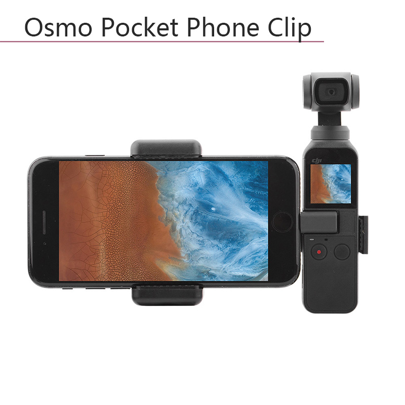 Portable Plastic Mount for DJI OSMO POCKET Mobile Phone Securing Clip Fixed Bracket Stand Handheld Gimbal Stabilizer Connector