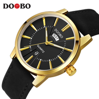 DOOBO New Gold Quartz Watches Men Fashion Casual Top Brand Luxury Wrist Watches Clock Male Army