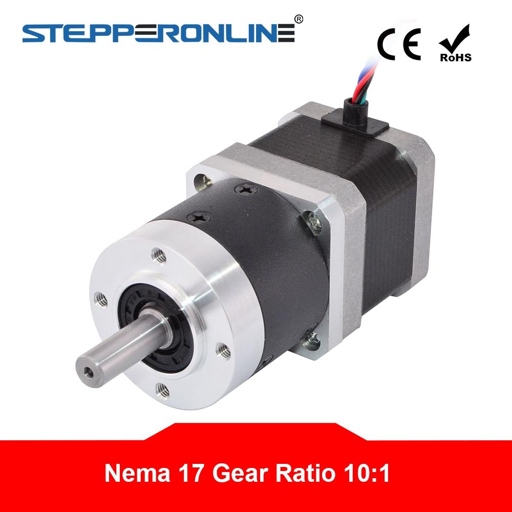 Nema 17 Stepper Motor L 39mm Gear Ratio 10 1 High Precision Planetary Gearbox 1 68A