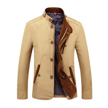 New Arrival Spring Autumn Men Casual Jacket Business Stand Collar Outwear Men Coat Size L-4XL(China)