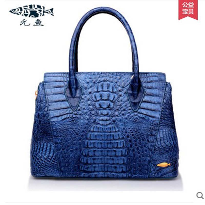 yuanyu 2018 new hot free shipping import Thailand crocodile women handbag  female bag single shoulder bag  fashion women bag yuanyu 2018 new hot free shipping real thai crocodile women handbag female bag lady one shoulder women bag female bag