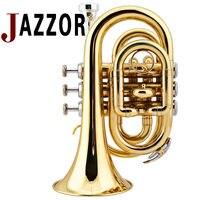 JAZZOR Cornet B flat professional Gold lacquer trumpet wind instrument