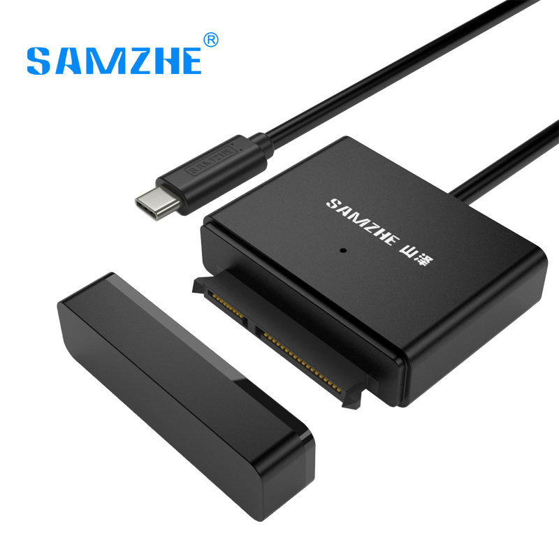 SAMZHE USB C To SATA Adapter for 2.53.5 SATA Drives External Hard Drive Cable USB Type C to SATA Adapter UASP