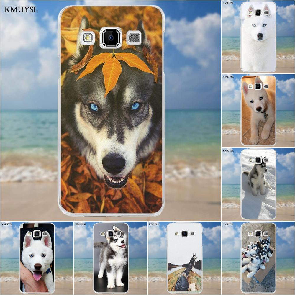 Kmuysl TPU New Arrival For Samsung Galaxy A3 A5 A7 J1 J2 J3 J5 J7 2015 2016 2017 Design <font><b>Siberian</b></font> <font><b>Husky</b></font> Dog Puppies image