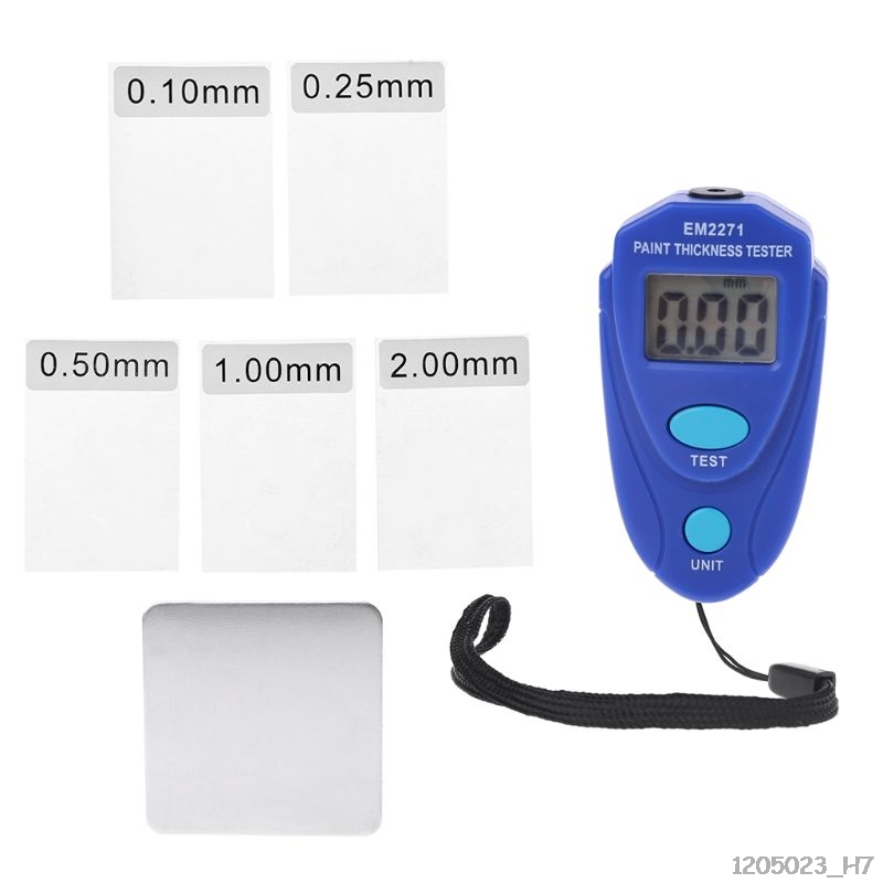 EM2271 Digital Mini Thickness Gauge Car Paint Tester Thickness Coating Meter