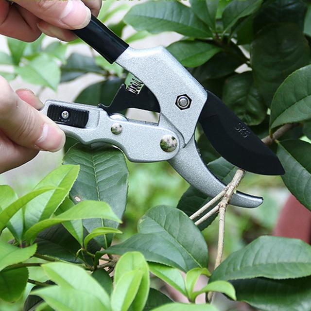 High-carbon steel blade Ergonomic design Anti-Slip Grip Grafting Tool Fruit Tree Pruning Shears Bonsai Pruners Garden Shears