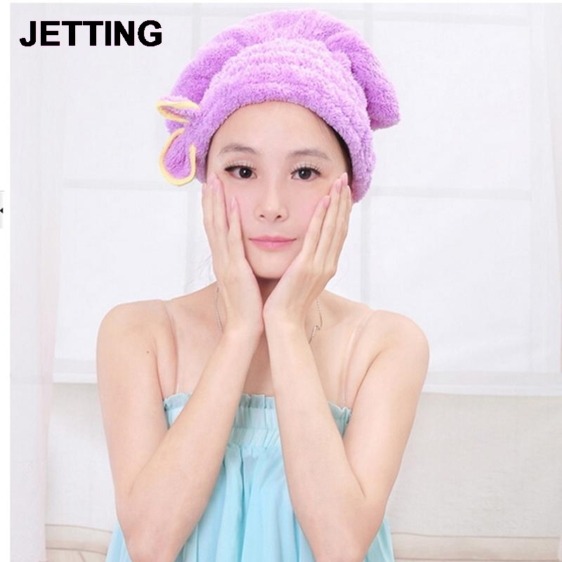 Permalink to NEW Shower Bathing Quick Dry Hair Drying Hat Bath Microfiber Fabric Cap Bathing Sanitary Ware Suite Accessories