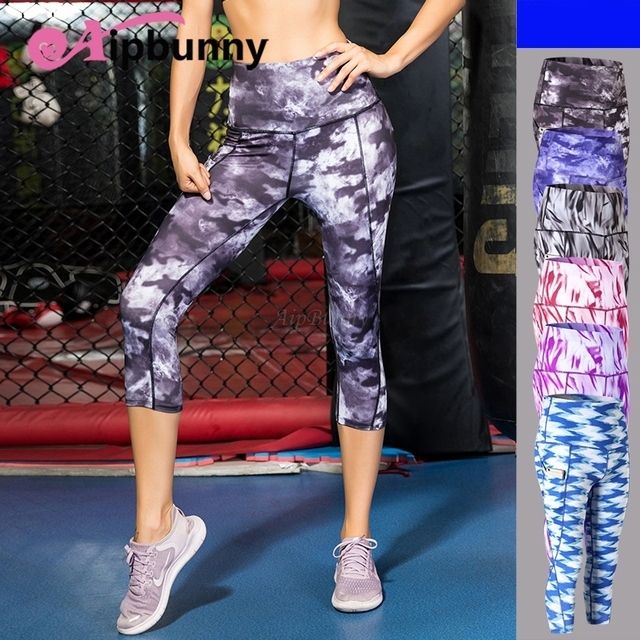 d5d64849ba3ef Aipbunny 2018 High Waisted Yoga Cropped Capri Pants Women Sports Leggings  ropa deportiva mujer Gym Leggins Fitness Clothing