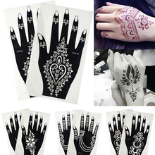 1 Pair Water Resist Temporary Tattoo Black Stamping Sticker Henna Tips for Body Drawing Painting DIY Decoration Tools BES123-196