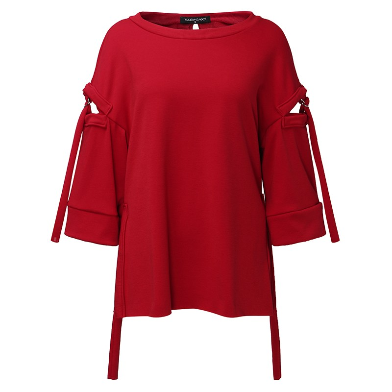 Women Hoodies Casual Outwear 5XL Solid Sweatshirt Flare Long Sleeve Hollow Out Loose Pullover Solid Top Plus Size Autumn Spring